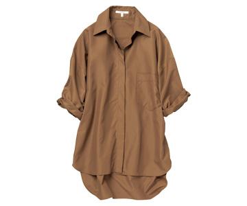 ルーニィ×テラコッタの涼感ツヤっぽシャツ