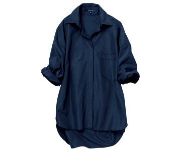 ルーニィ×マットな光沢のブラックシャツ