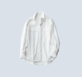 I.T.'S.international×比翼仕立ての白シャツ