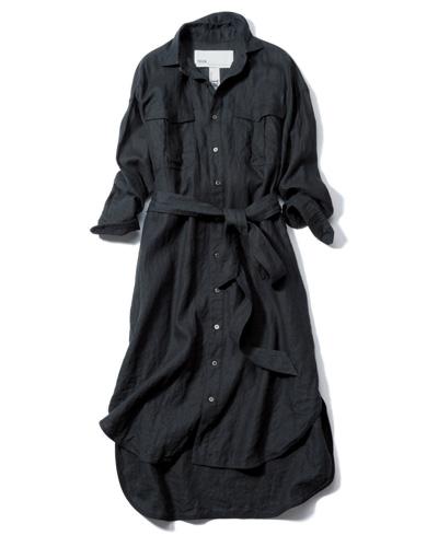 ワンピース 黒:ティッカのシャツワンピ
