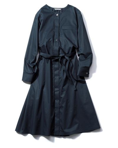 ワンピース 黒:アバハウス ドゥヴィネットのシャツワンピ