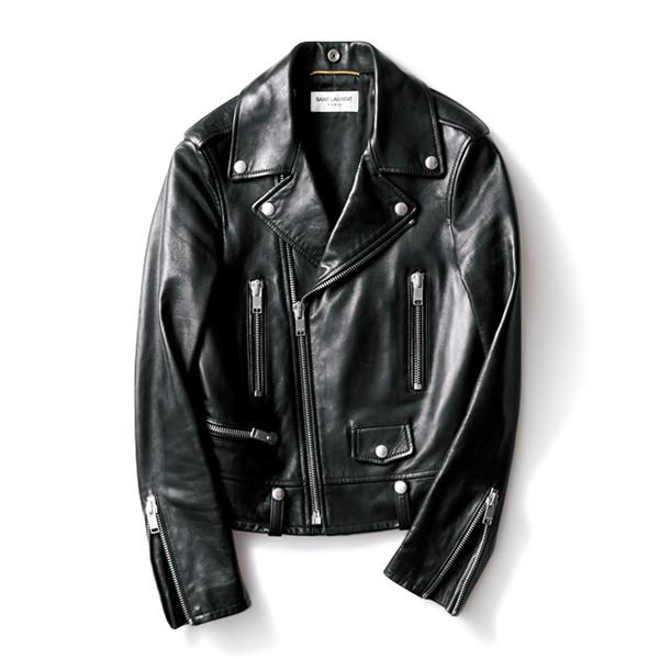 「サンローラン」のライダースジャケット