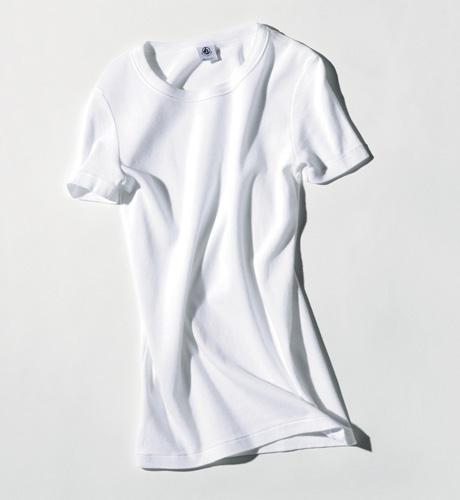 白Tシャツ×プチバトー