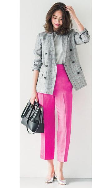 リネン混素材のジャケット