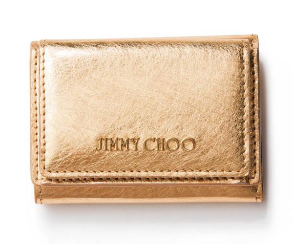 イエローゴールドのミニ財布・ブランド:ジミー チュウ