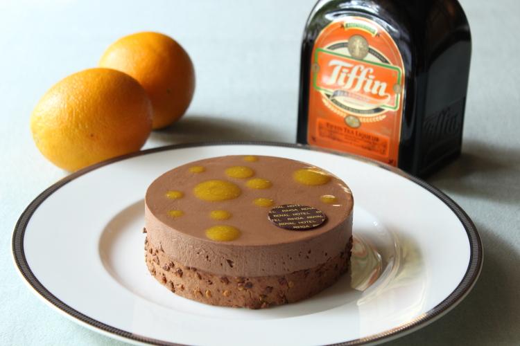 紅茶とオレンジのチョコレートケーキ