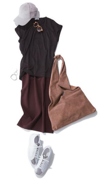 ブラウンワンピース×ブラウンスカート