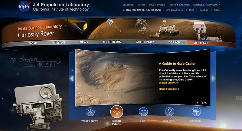 火星のゲール・クレーター