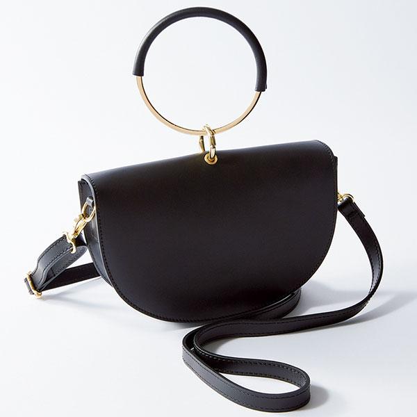 「メゾン・ヴァンサン」のリングハンドル 半円形バッグ