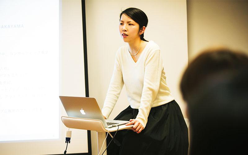 司会兼講師のSHE株式会社代表 中山紗彩さん