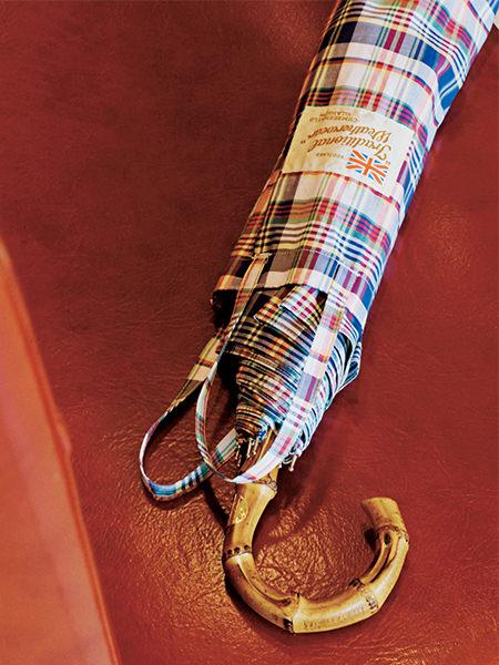 Traditional Weatherwear|マドラスチェックの折り畳み傘