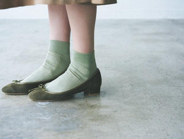 RLAURENCE|ロランスのオリーブグリーンの靴