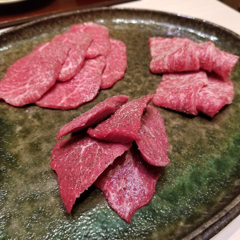 特選ハラミ入り三種塩肉盛り合わせ
