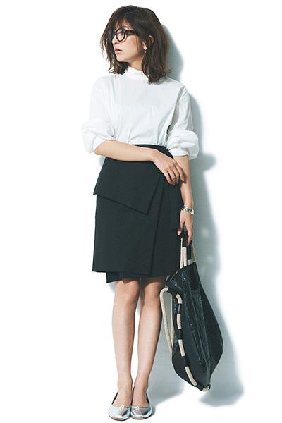 【2】スタンドカラーのドレスシャツ