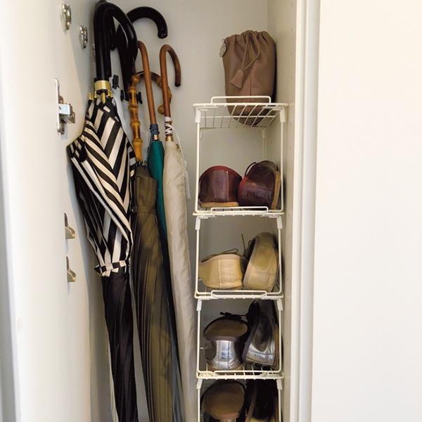 100均棚で靴収納