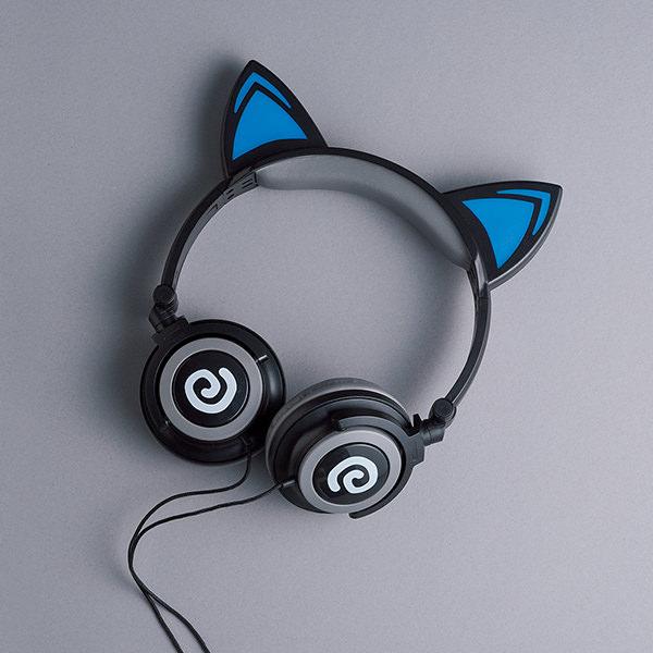 光る猫耳ヘッドフォン