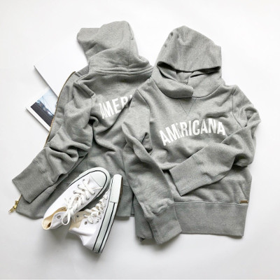 AMERICANA × MICA & DEALのグレーパーカー、ジップアップパーカー
