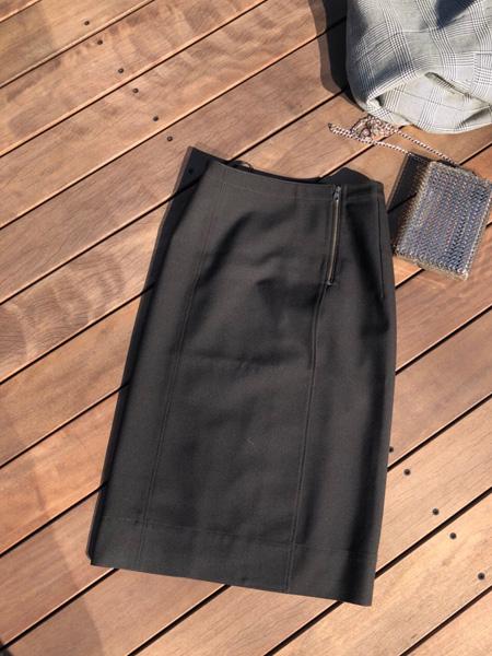 ウールブレンドラップスカート