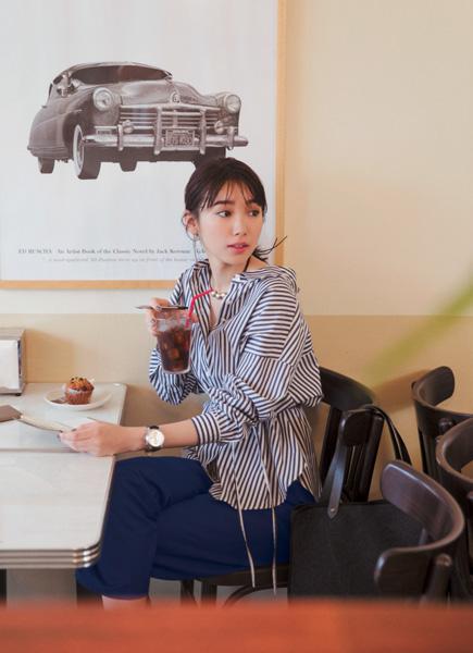 【5】ネイビーシャツ×青パンツ