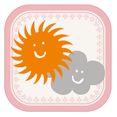 「おしゃれ天気」アプリ