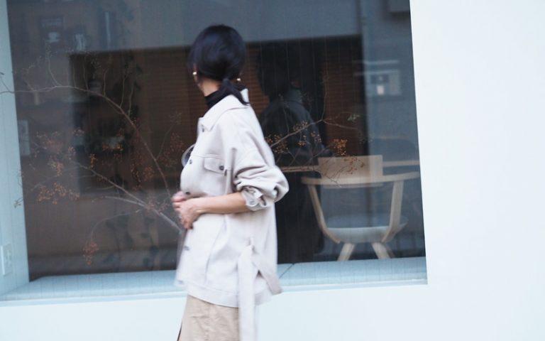 【7】ZARAのベルト付きスエード風ジャケット