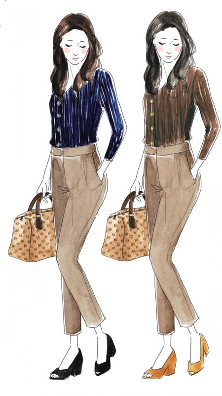トレンチコートなどのトラディショナルなアイテムやきちんとした服