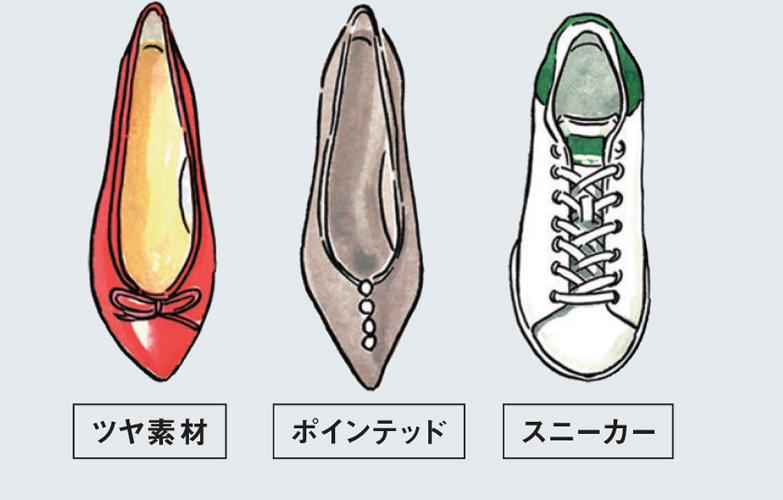 ストレート骨格の人が似合う靴
