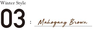 Winter Style 03:Mahogany Brown