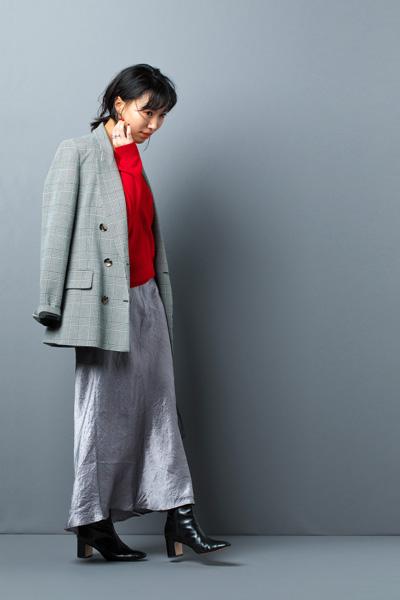 カシミアのVネックセーター