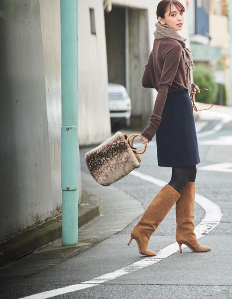 ペリーコの華奢&ヒール低めなロングブーツ