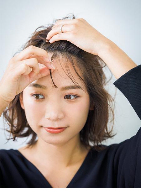 フェミニン系なら前髪に主張をのせて