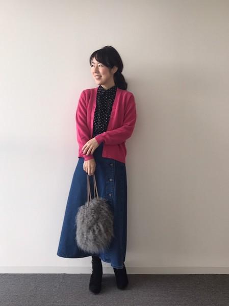 【GU】デニムサイドボタンロングスカート