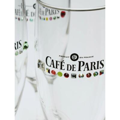 「カフェ・ド・パリ」ロゴ入りオリジナルフルートグラス