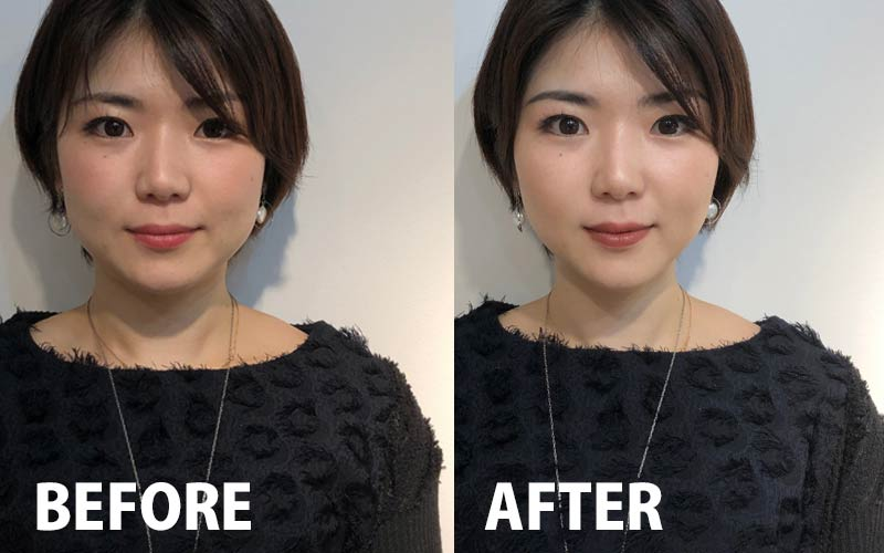 メイク BEFORE AFTER