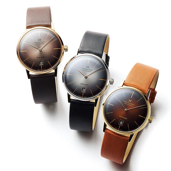 ◆【ハミルトン】のシックな腕時計