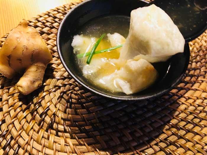 餅入り生姜スープ