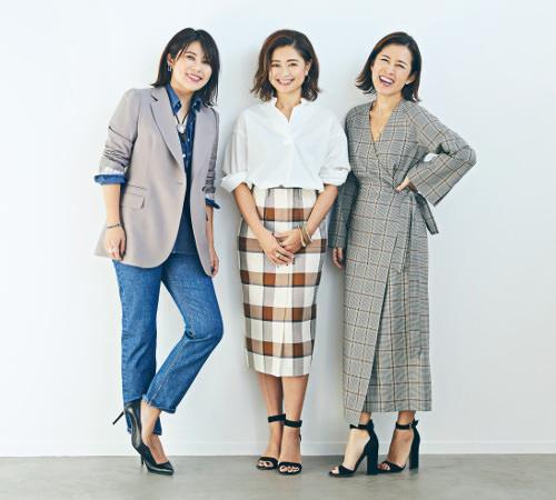 スタイリストの大草直子さん、望月律子さん、エディターの三尋木奈保さん