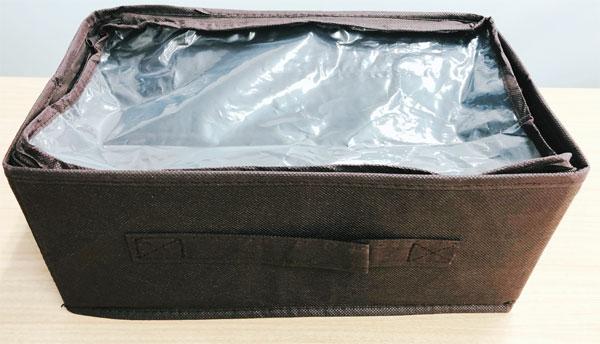 収納ボックス カバー付(キャンドゥ)