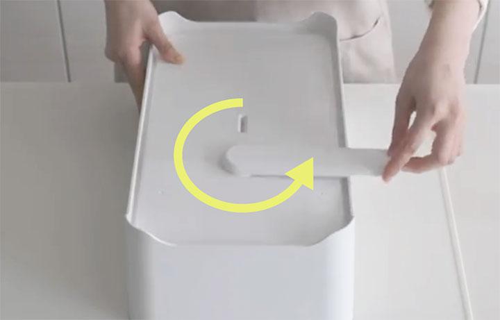水切りかご「YOHAKU」 コンパクト