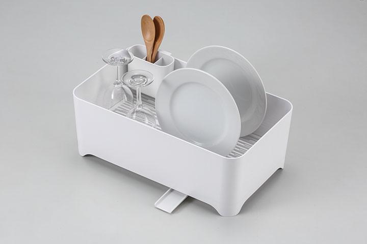 水切りかご「YOHAKU」 洗い桶になる水切りケース