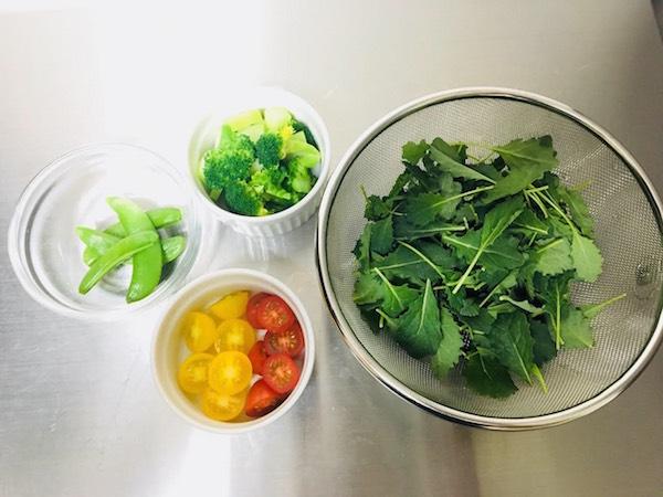 添え野菜 下準備