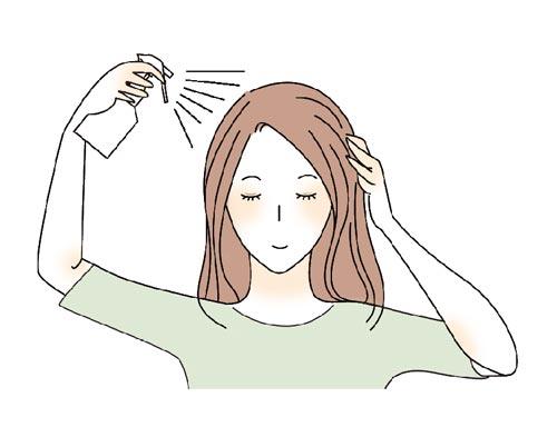 髪全体の寝ぐせ直し方法