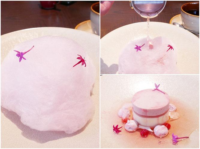 桜チーズケーキ コットンキャンディ