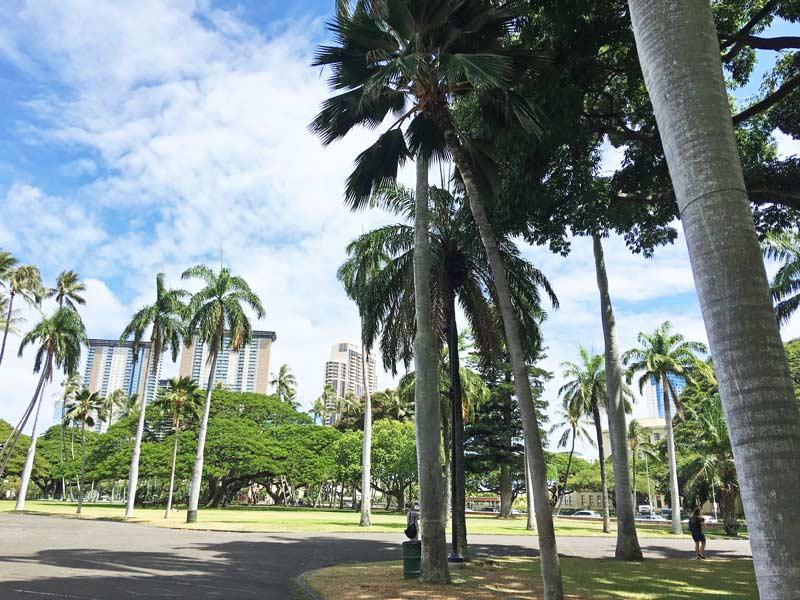 ハワイ 歩道
