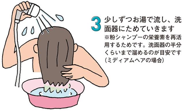 効果的な粉シャンプーの使い方