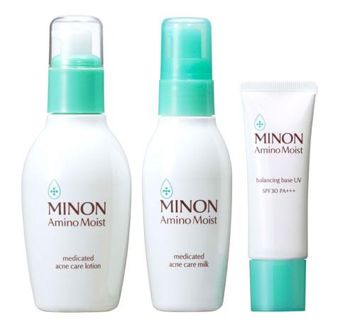 ミノン アミノモイスト 薬用アクネケア ローション/ミルク バランシングベース UV