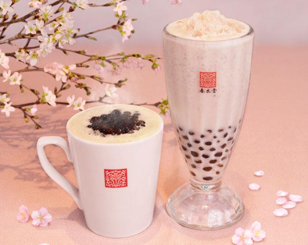 タピオカ桜ミルクティー