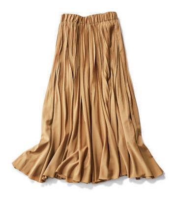 キャメルプリーツスカート