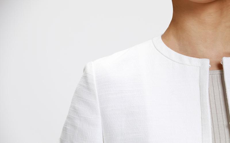 ユナイテッドアローズ オフホワイトパンツスーツ クルーネック