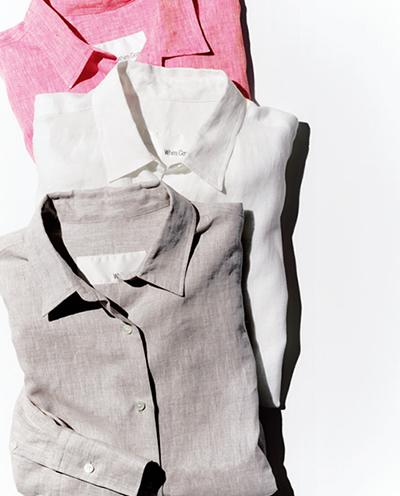 リネン素材の〝ビッグシャツ〟